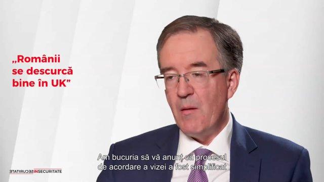 """Decizii noi, la vremuri noi! E.S. Andrew Noble, ambasadorul Marii Britanii în România, despre românii din UK: ,,Acum doi ani, nu vorbea nimeni despre asemenea cifre""""/ ,,Am bucuria să vă anunţ că procesul de acordare a vizei a fost simplificat"""""""