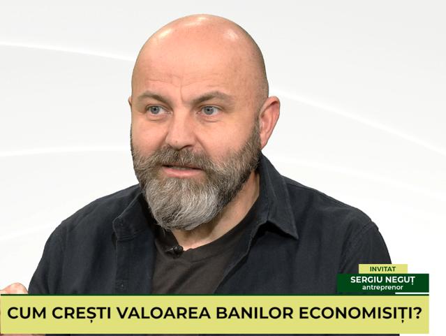 """IEŞI PE PLUS VIDEO. Despre antreprenoriat şi investiţii """"cu cap"""". Invitat: Sergiu Neguţ, antreprenor, investitor şi profesor"""