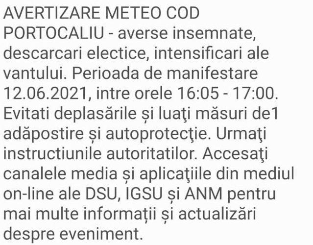 Mesaj Ro-Alert de vreme extremă în Bucureşti: Averse însemnate, descărcări electrice şi intensificări ale vântului: Staţi adăpostiţi