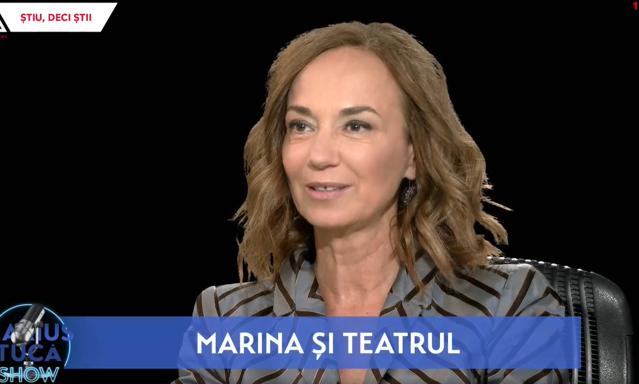 """VIDEO """"Marius Tucă Show"""", la Aleph News şi pe alephnews.ro. Invitat – criticul de teatru Marina Constantinescu"""